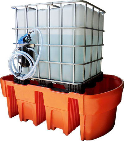 IBC bunds, IBC container bund, bunds, IBC, tote bund, spill tray, spill pallet, spill containment, chemical storage ibc